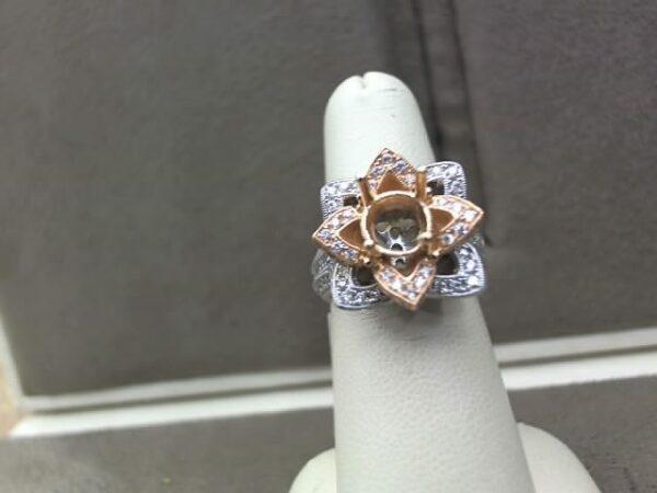 Chammas Jewelers Two-Tone 14K Gold Diamond Engagement Ring