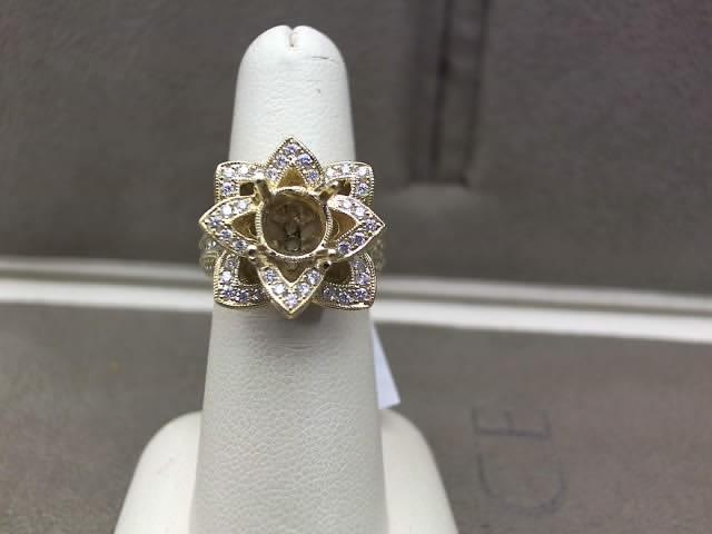 Chammas Jewelers 14K Yellow Gold Diamond Engagement Ring