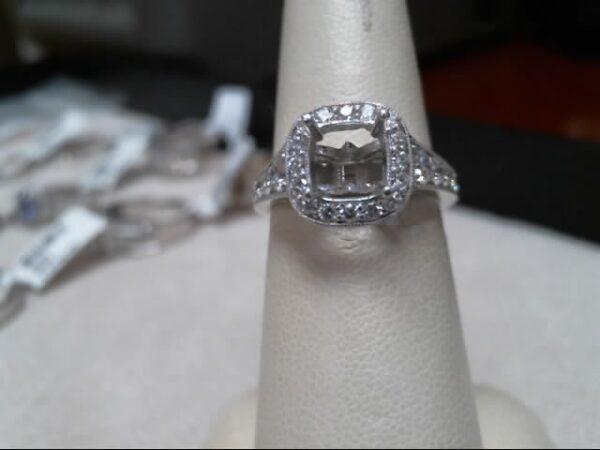 Chammas Jewelers 14K White Gold Diamond Engagement Ring