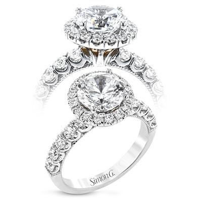 Simon G. Jewelry 18K White Gold LR2489 Engagement Ring