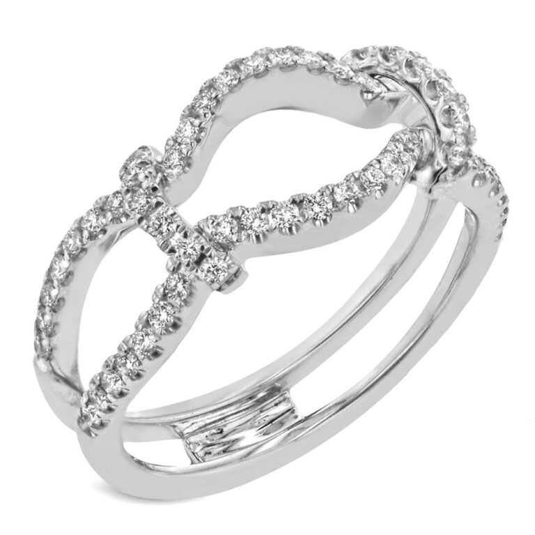 Simon G. Jewelry 18K White Gold MR3005 Ring Guard