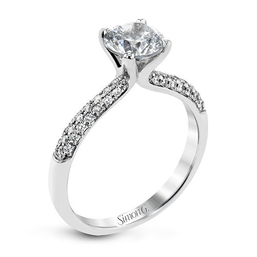 Simon G. Jewelry 18K White Gold TR431 Engagement Ring