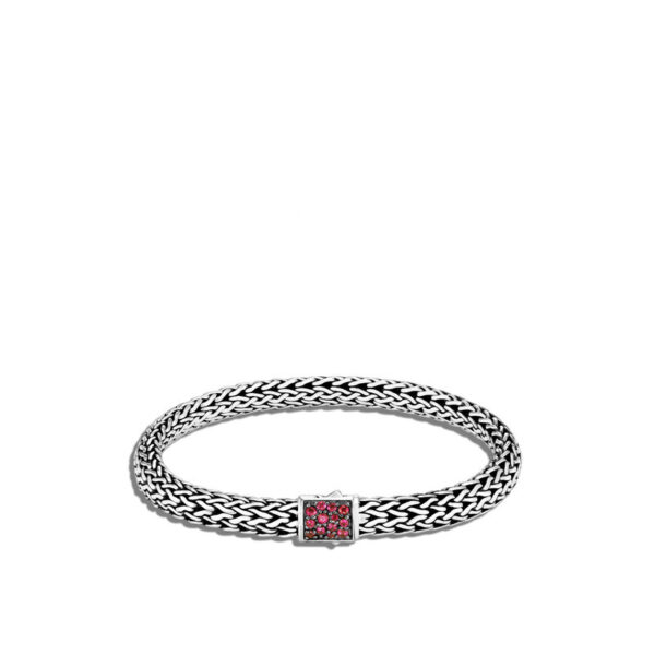 John Hardy Reversible Classic Chain Bracelet, African Ruby