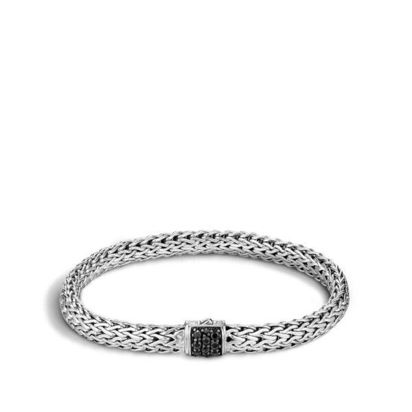 John Hardy Classic Chain Bracelet with Black Sapphire, 6.5MM