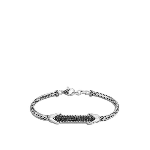 John Hardy Asli Link Bracelet, Black Sapphire, Spinel