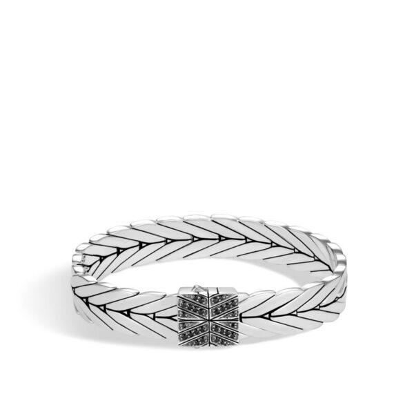 John Hardy Modern Chain Bracelet with Black Sapphire, Black Spinel