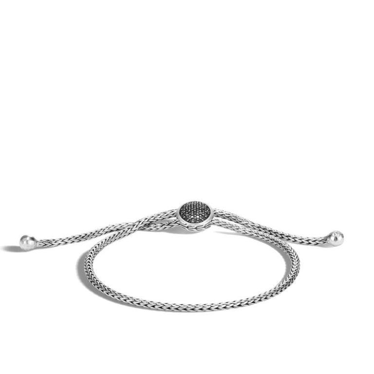 John Hardy Classic Chain Pull Through Bracelet, Black Sapphire, Black Spinel