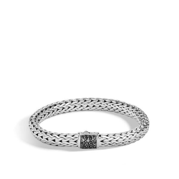 John Hardy Classic Chain Bracelet with Black Sapphire, 7.5MM