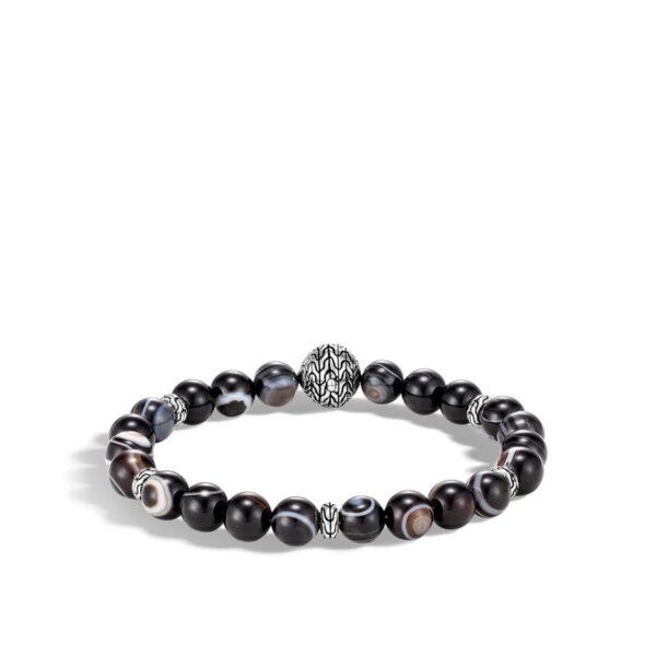 John Hardy Men's Bead Bracelet with Banded Agate
