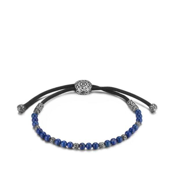 John Hardy Men's Classic Chain Pull Through Bead Bracelet with Lapis Lazuli