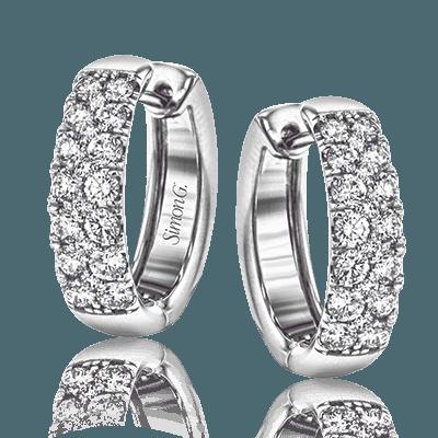 Simon G. Jewelry 18K White Gold LE4390 Hoop Earrings