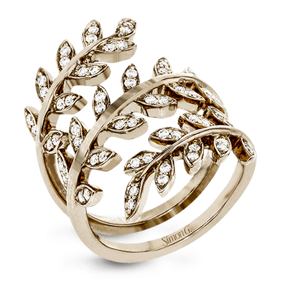 Simon G. Jewelry 18K Gold LP2309 Right Hand Ring