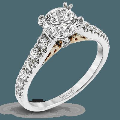 Simon G. Jewelry 18K White Gold LP2356 Engagement Ring