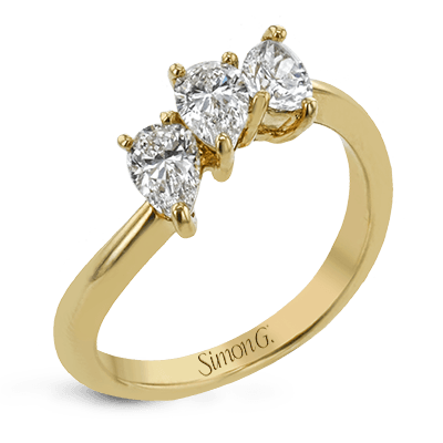 Simon G. Jewelry 18K Gold LR4774 Right Hand Ring