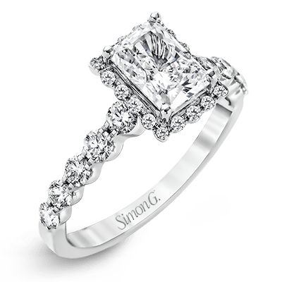 Simon G. Jewelry 18K White Gold MR2088 Engagement Ring