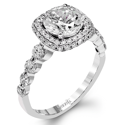 Simon G. Jewelry 18K White Gold MR2477 Engagement Ring