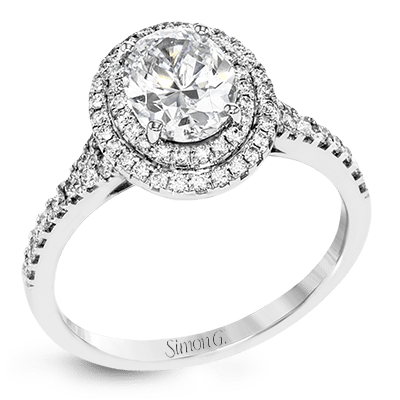 Simon G. Jewelry 18K White Gold MR2884 Engagement Ring