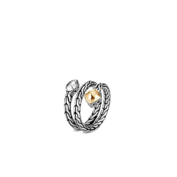 John Hardy Classic Chain Hammered Coil Ring