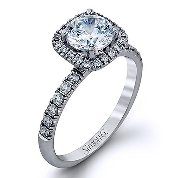 Simon G. Jewelry 18K White Gold MR2132 Engagement Ring