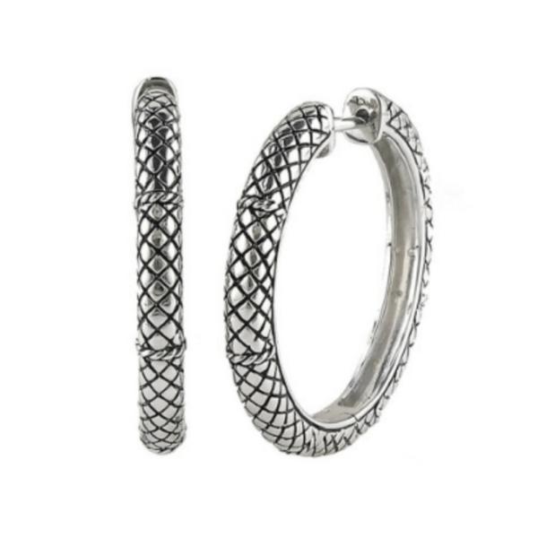 Andrea Candela Sterling Silver Hoop Earrings
