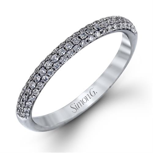 Simon G. Jewelry 18K White Gold TR431B Wedding Ring
