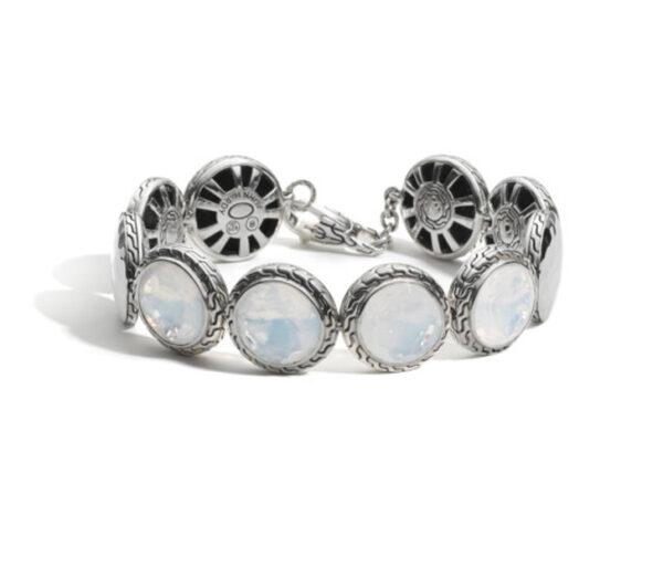 John Hardy Dot Disc Bracelet, Moon Quartz