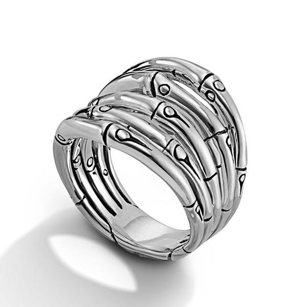 John Hardy Bamboo Silver Wide Ring