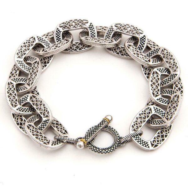 Andrea Candela 18K and Sterling Silver Link Bracelet