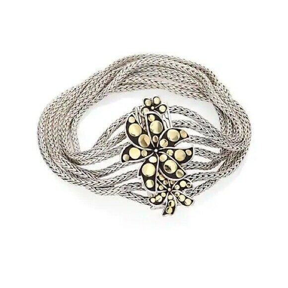 John Hardy Dot Gold and Silver Multi-Row Bracelet