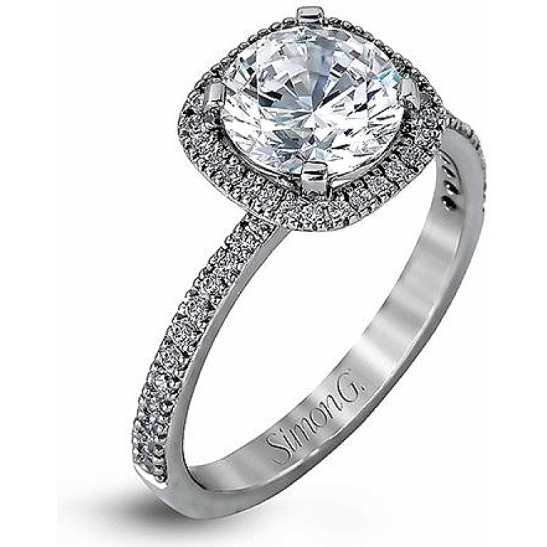 Simon G. Jewelry 18K White Gold MR1840-A Engagement Ring