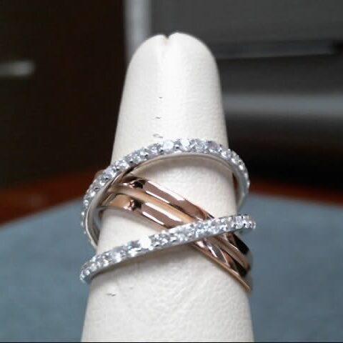 Facet Barcelona 14K Gold Diamond Cocktail Ring