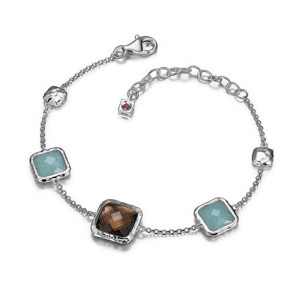 ELLE Rhodium Plated Bracelet
