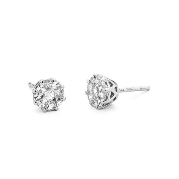 Facet Barcelona 14K White Gold Diamond Earrings