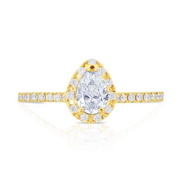 Costar Imports 14K Yellow Gold Diamond Engagement Ring