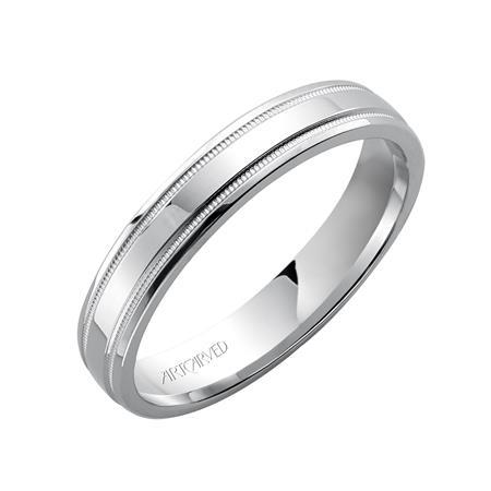 ArtCarved 14K White Gold Wedding Band