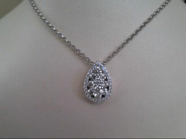 Fana 14K White Gold Diamond Pendant Necklace