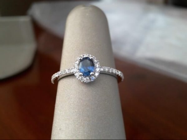 Fana 14K White Gold Sapphire Diamond Fashion Ring