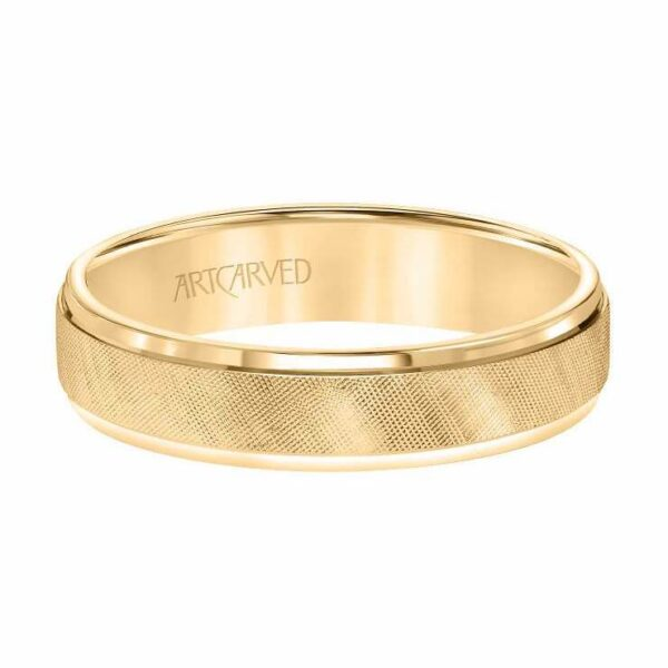 ArtCarved 14K Yellow Gold Wedding Band