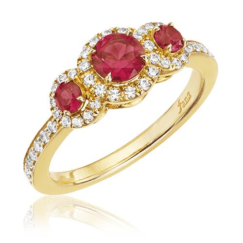 Fana 14K Yellow Gold Ruby Diamond Fashion Ring