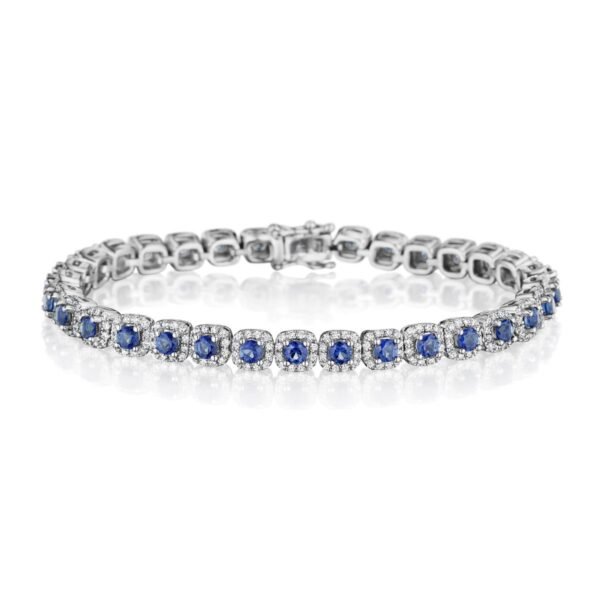 Fana 14K White Gold Sapphire Diamond Bracelet