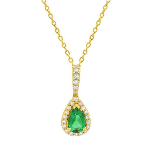 Fana 14K Yellow Gold Emerald Diamond Pendant