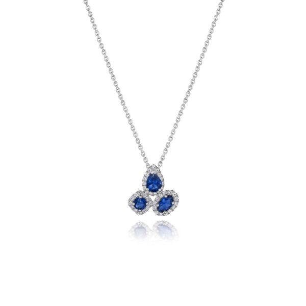 Fana 14K White Gold Sapphire Diamond Necklace