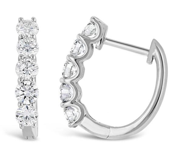 Grown With Love 14K White Gold Lab Diamond Hoop Earrings