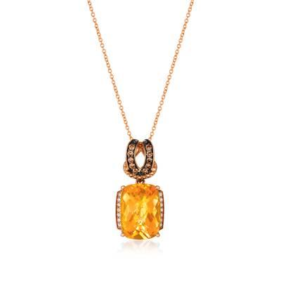 Le Vian 14K Strawberry Gold® Cinnamon Citrine® Pendant