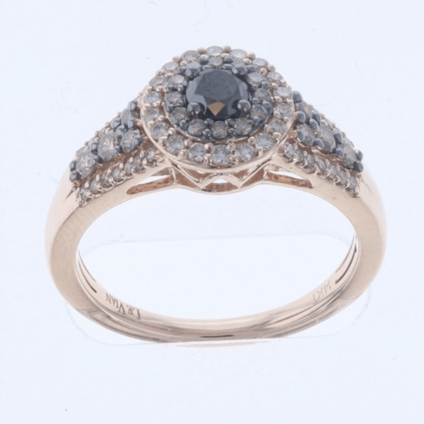 Le Vian 14K Strawberry Gold® Black Diamond Ring