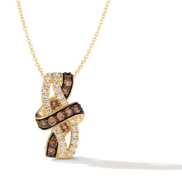 Le Vian 14K Honey Gold™ Chocolate Diamonds® & Nude Diamonds™ Pendant