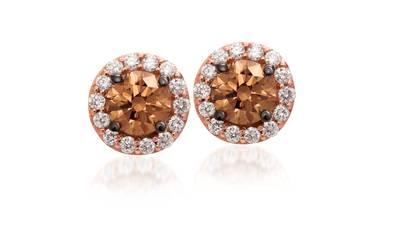 Le Vian 14K Strawberry Gold® Chocolate & Vanilla Diamonds® Earrings