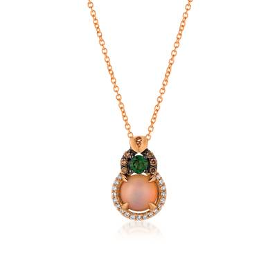 Le Vian 14K Strawberry Gold® Neopolitan Opal™ Pistachio Diopside® Pendant