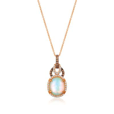 Le Vian 14K Strawberry Gold® Neopolitan Opal™ Pendant