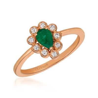 Le Vian 14K Strawberry Gold® Costa Smeralda Emeralds™ Ring